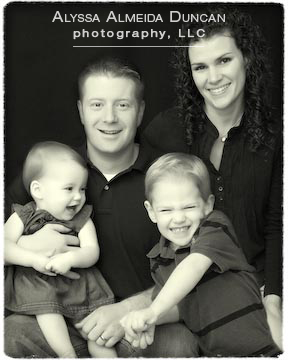 EDITED family portrait bw border